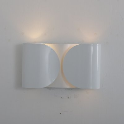 White metal 'Foglio' wall lamp by Tobia Scarpa for Flos, Italy 1970s