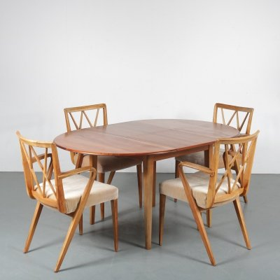 Dining set by A.A. Patijn for Zijlstra Joure, 1950s