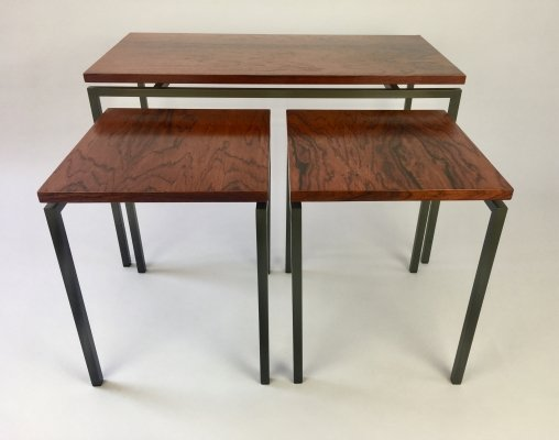 Rosewood set of side tables, Netherlands 1960s