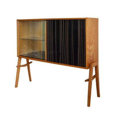 Wooden Showcase/Bar by Bohumil Landsman & Hubert Nepozitek for Jitona, 1960s
