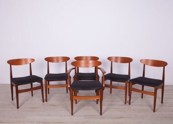 Set of 6 Mid-Century Dining Chairs, 1960s