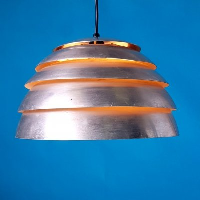 Early aluminum pendant lamp by Hans Agne Jakobbson, Sweden 1960s