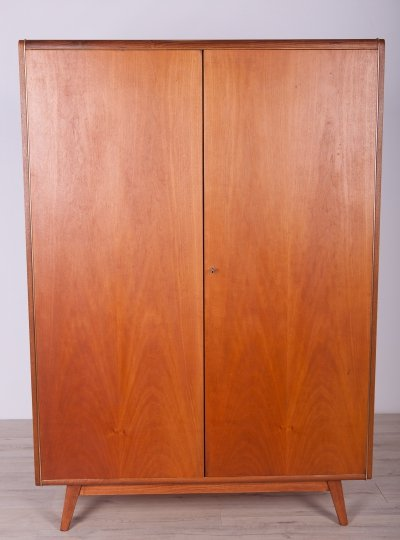 Ash & Walnut Wardrobe by Bohumil Landsman for Jitona, 1960s