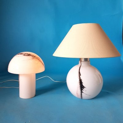 Set of 2 Cirrus glass table lamps by Peill & Putzler, Germany 1960s