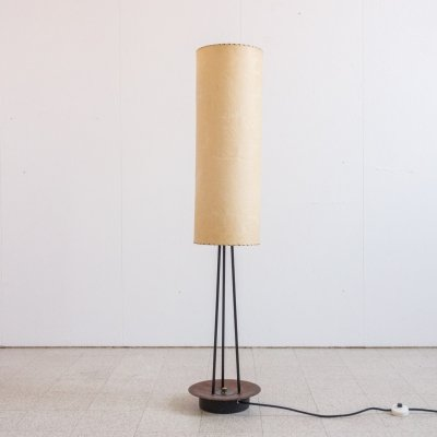 Floorlamp in metal & teak, 1960s