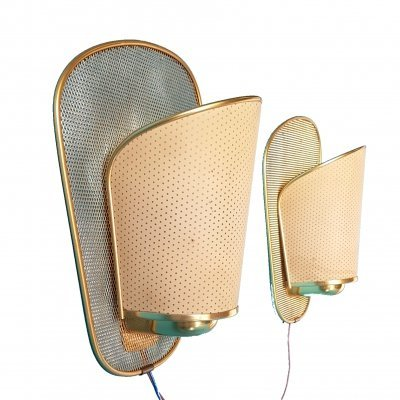 Set of 2 mid century sconces, 1960s