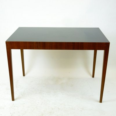 Austrian Midcentury Walnut & Formica Dining Table by Hagenauer