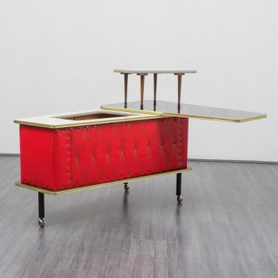 Rare vintage 1950s home bar / trolley on wheels