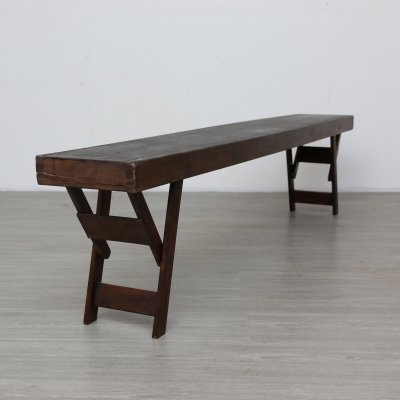 Low Wooden Bench, 1970s