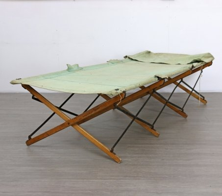 Folding Campaign Bed, 1940s
