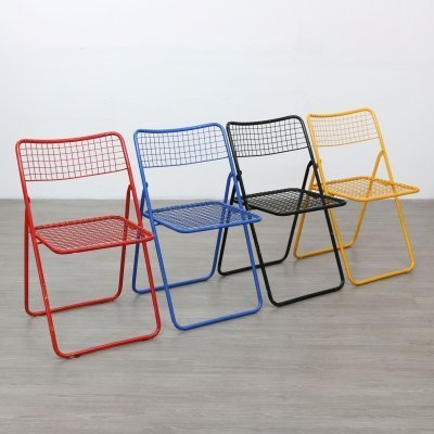 Set of 4 Folding Chairs by Niels Gammelgaard, 1980s