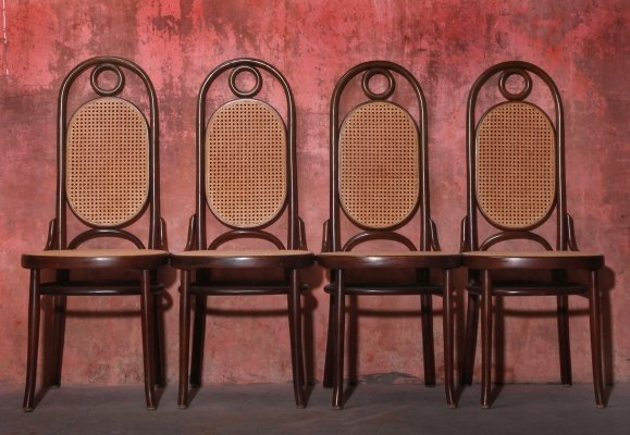 Vintage Mid Century Leone Bentwood Dining Chairs, 1950s