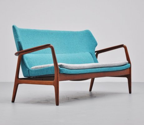 Bovenkamp wingback lounge sofa by Aksel Bender Madsen, 1960