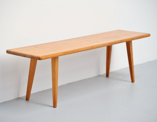 Carl Malmsten solid pine bench, Sweden 1940