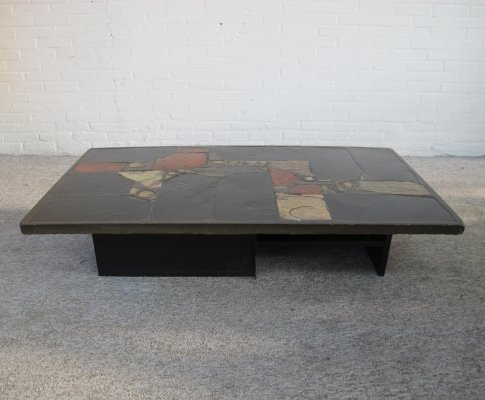 Brutalist Coffee table by sculptor Paul Kingma, 1970s