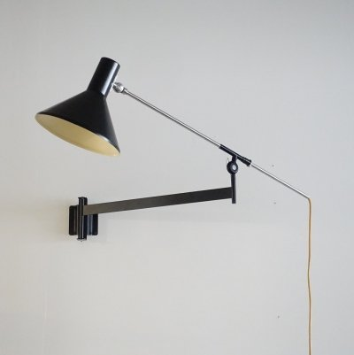 Large adjustable 'Ideaal' wall light by Floris Fiedeldij for Artimeta, 1960s