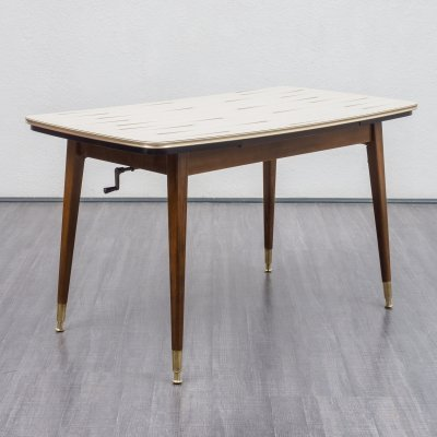 Height-adjustable & extendable table, 1950s