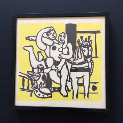 Original Lithograph Art print 'The yellow Circus' by Fernand Leger, 1960's