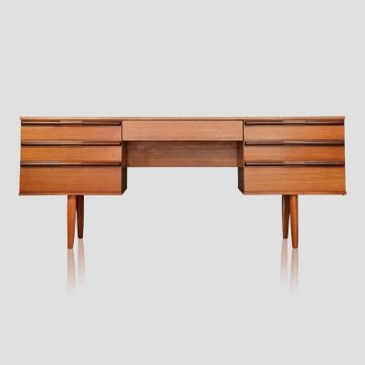 Vintage scandinavian style mid century dressing table / desk by Avalon, 1960s