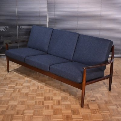 Rare Rosewood Edition Model 128/3 sofa by Grete Jalk for France & Son, 1960s