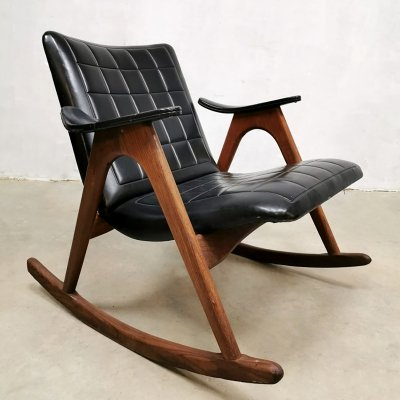 Vintage design rocking chair by Louis van Teeffelen for Webe