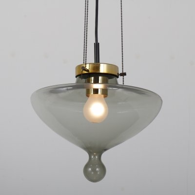 Model B-1052 / 'Chaparral' hanging lamp by Raak Amsterdam, 1960s