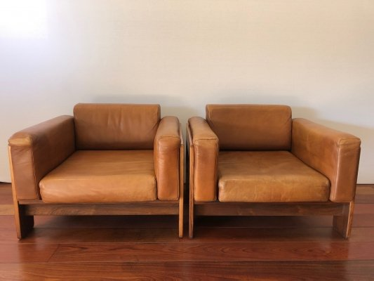 Pair of Bastiano lounge chairs by Tobia Scarpa & Afra Scarpa for Gavina, 1960s