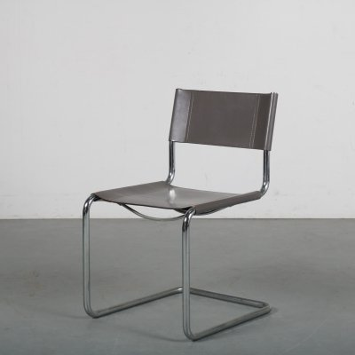 1980s tubular frame side / dining chair by Marcel Breuer for Thonet