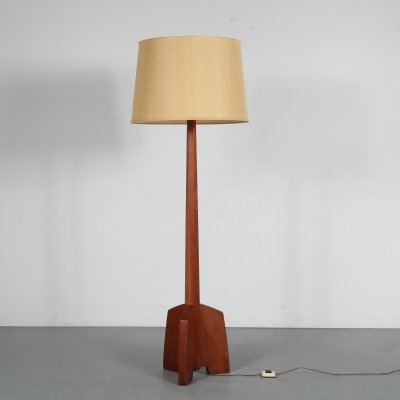 Rocket base floor lamp, USA 1950s