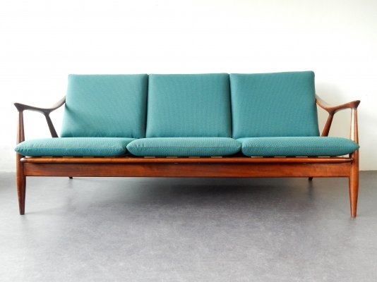 Teak 3-seater sofa by De Ster Gelderland, the Netherlands 1960s