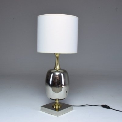 French Vintage Brass Table Lamp, 1970s
