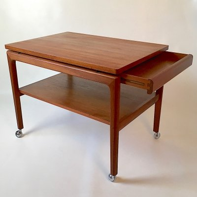 Senator series Teak trolley by Ole Wanscher for Franc & Son, Denmark 1960s