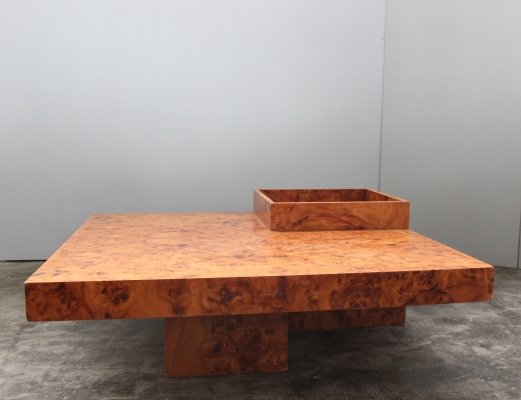 Italian coffee table in briar root, 1970s