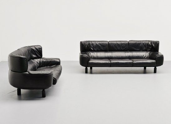 Gianfranco Frattini Bull sofa set by Cassina, Italy 1987