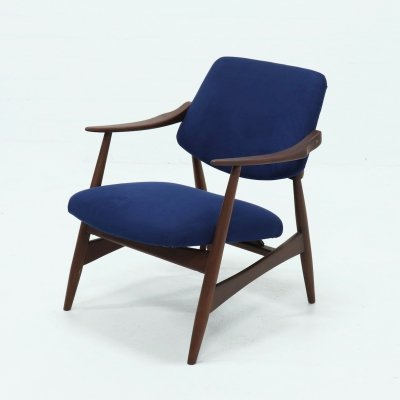 Mid Century Teak Armchair by Louis van Teeffelen for WeBe, 1950s