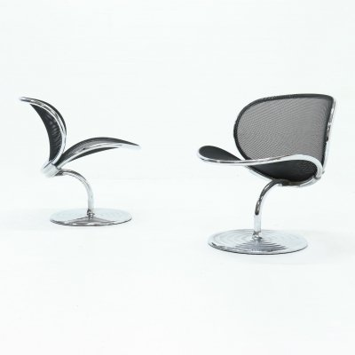 Set of 2 Mid Century O-Line Chairs by Herbert Ohl for Wilkhahn, 1980s