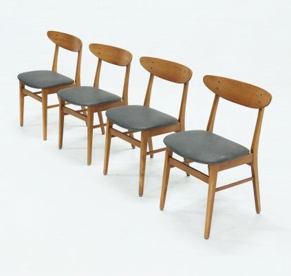Set of 4 Model 210 Dining Chairs by Farstrup Møbler, Danish Design 1960s