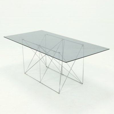 Mid Century Minimalist Dining Table by Max Sauze, 1970s
