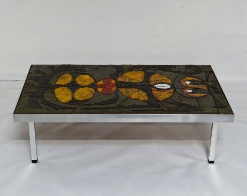 Ceramic vintage coffee table, 1970s