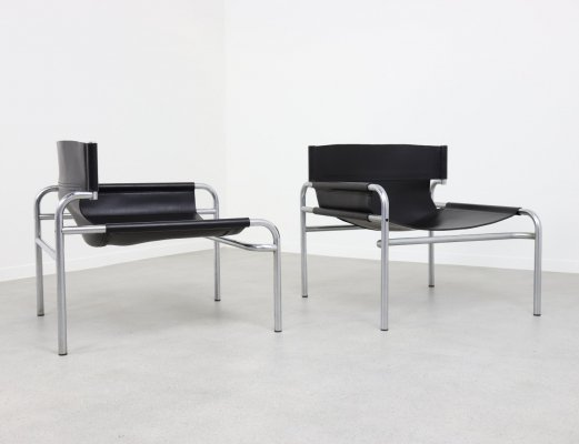 Asymmetric 'SZ13' lounge chairs by Walter Antonis for 't Spectrum, 1970s
