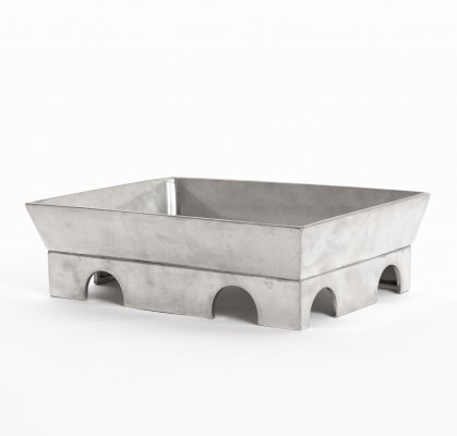 Teodora pewter bowl by Ettore Sottsass for Serafino Zani, 1999
