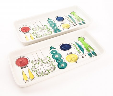 Large ceramic dish platters by Marianne Westman for Rörstrand, Sweden 1960s