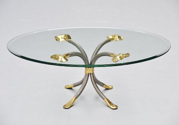 Manfred Bredohl brass & iron coffee table, Germany 1970