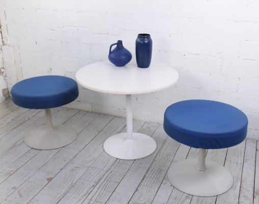 Space Age Side Table & two matching Stools, 1970s