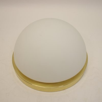 Glashütte Limburg ceiling lamp, 1980s