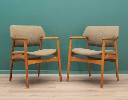2 x Fritz Hanse arm chair, 1960s