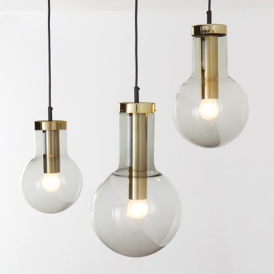 Set of 3 different sized Maxi Bulb pendant lamps by Raak, 1960s