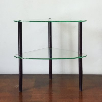 Iron, Glass & Brass coffee table, 1950s