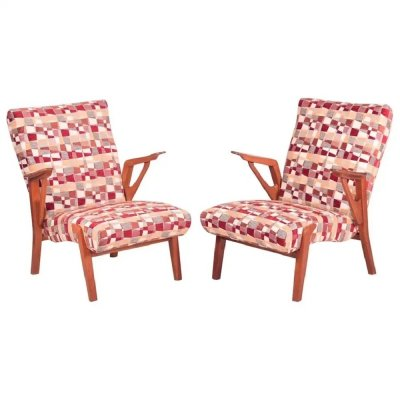 Pair of mid century armchairs by Bohumil Landsman for Jitona, 1960s