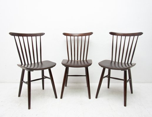 Set of 3 Mid century chairs by Antonín Šuman for TON, 1960s